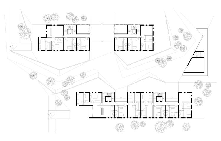 Progettazione di due edifici residenziali con relative for Software di piano terra residenziale
